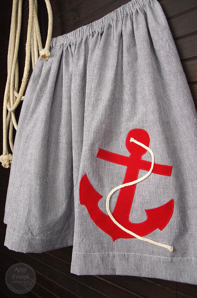 Nautical Skirt by Amy Friend