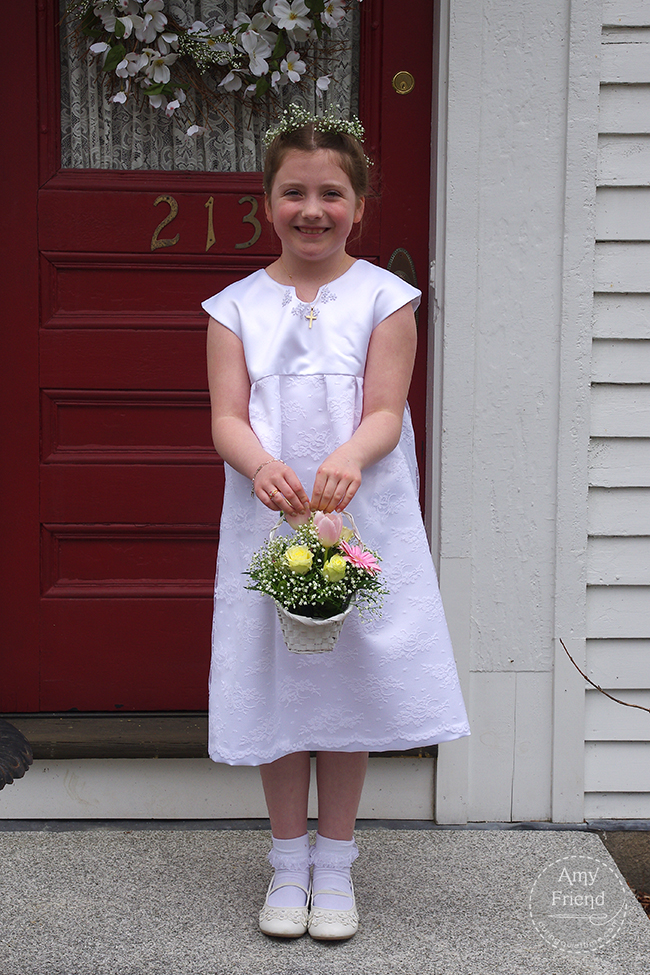 First Communion Dress by Amy Friend