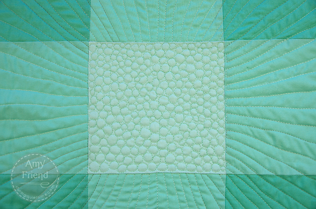 Quilting on Ombre Vibes by Amy Friend
