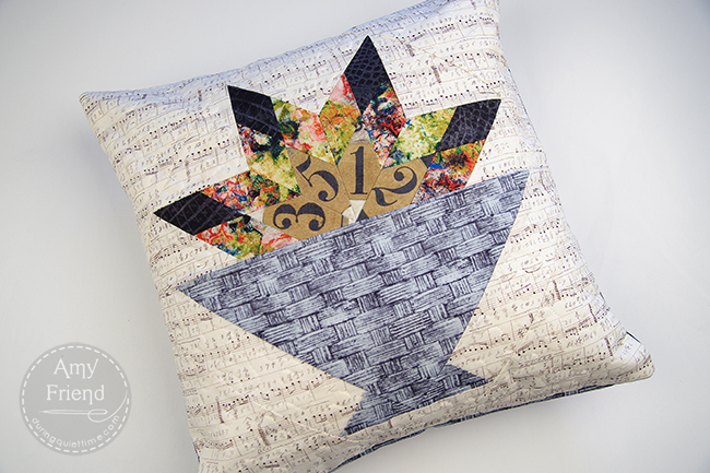 Basket Pillow made with Eclectic Elements (Tim Holtz) by Amy Friend
