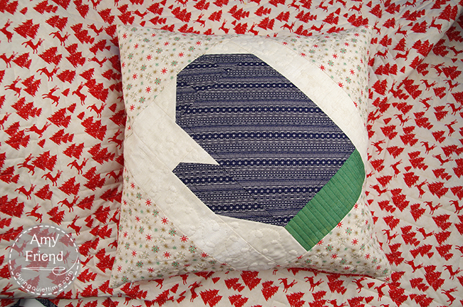 Mittens and Main Pillow by Amy Friend