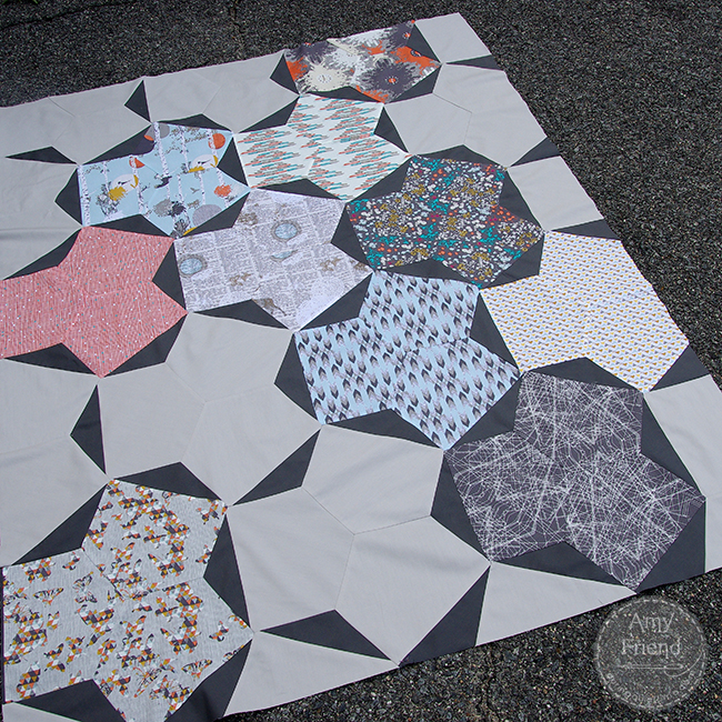 Indelible Footprint Quilt Top by Amy Friend