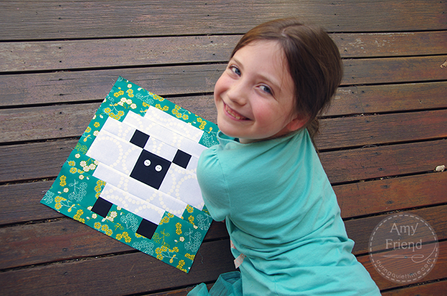 Lily with Sheep Block