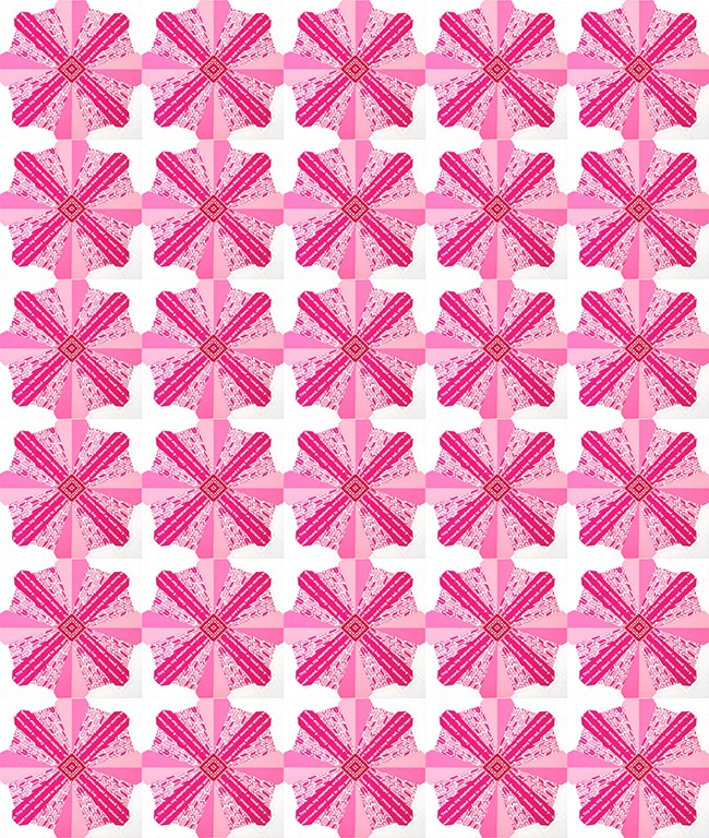 2013-09-10 posy quilt mockup