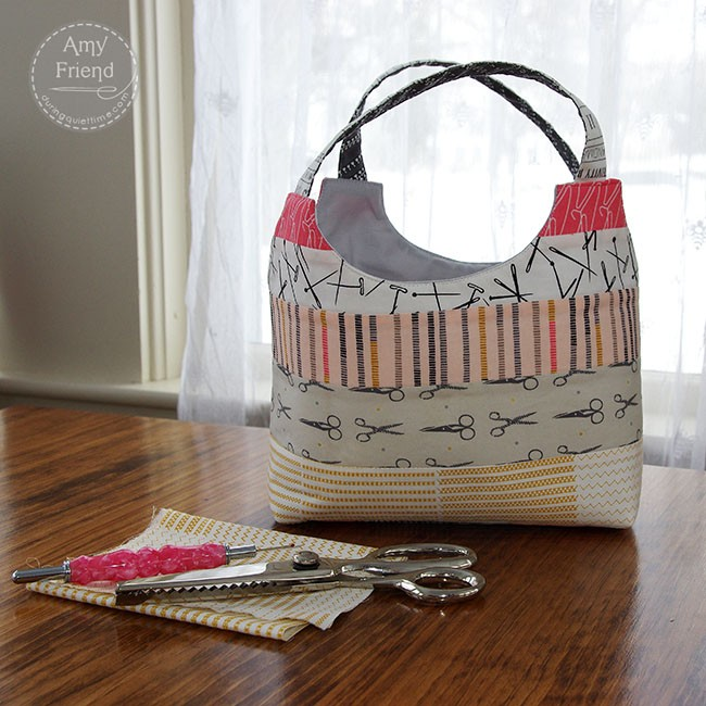 Small Patchwork Bag by Ayumi sewn by Amy Friend