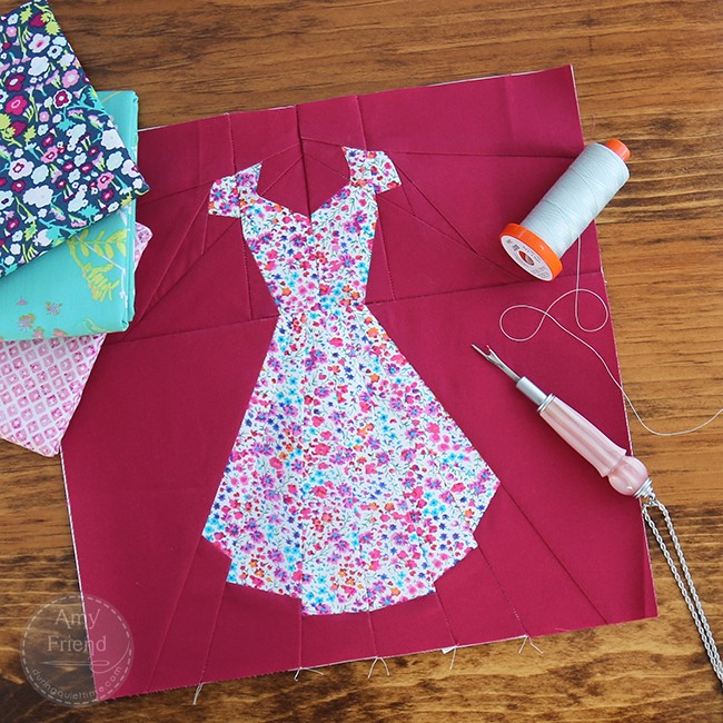 Liberty Dress by Amy Friend, pattern in Intentional Piecing
