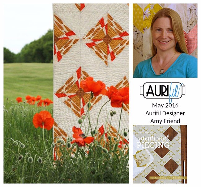 Aurifil 2016 Design Team May Amy Friend collage