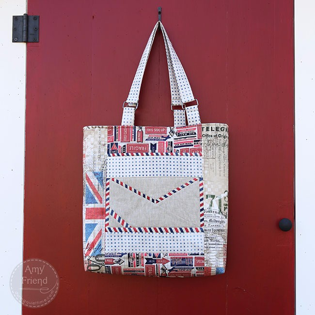 Airmail bag by Amy Friend