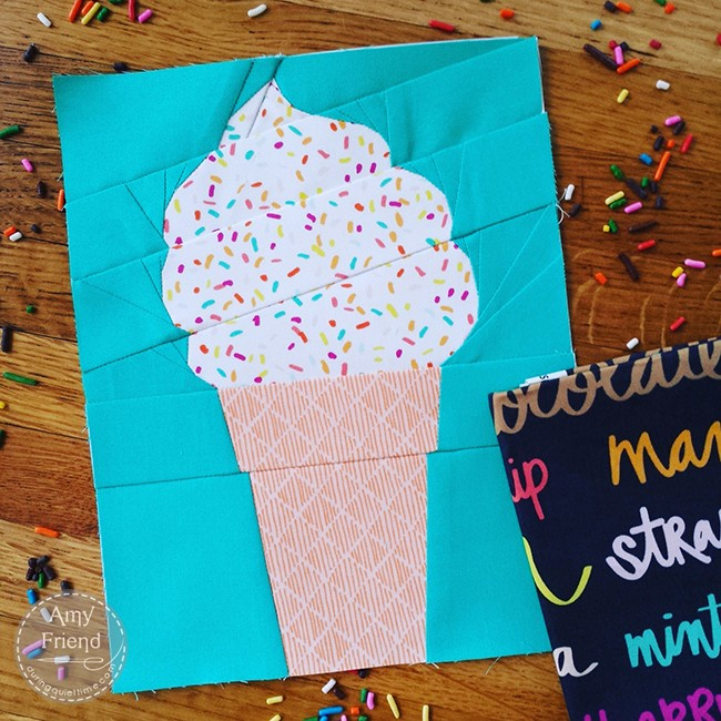 Soft Serve Ice Cream Cone with Sprinkles!  by Amy Friend