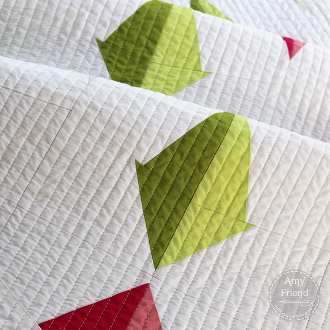 Plumb Line Quilt Detail by Amy Friend