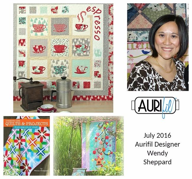 Aurifil 2016 Design Team July Wendy Sheppard collage