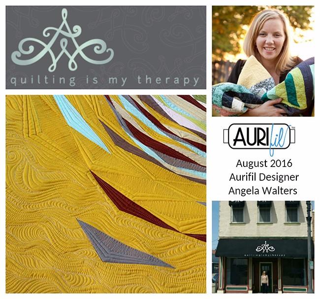 Aurifil 2016 Design Team August Angela Walters collage
