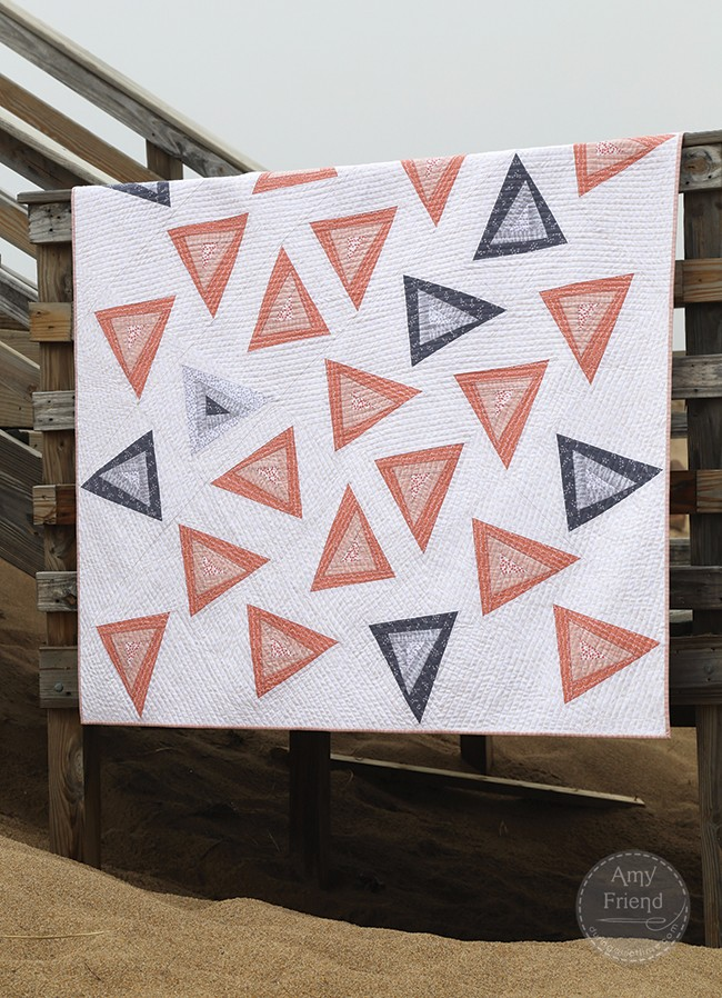 Triangle Toss Quilt During Quiet Time